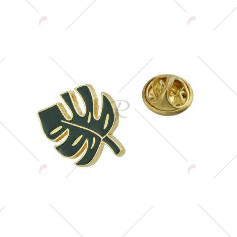 Discount Alloy Tiny Leaf Brooch - GREEN  Mobile