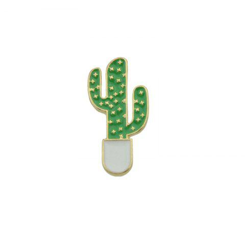 Outfits Tiny Cute Star Cactus Brooch GREEN