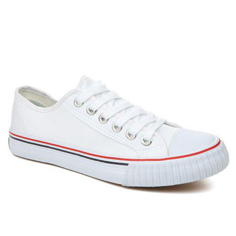 Outfit Classic Low-top Canvas Sneakers - 43 WHITE Mobile