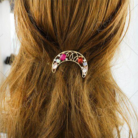 Buy Faux Gem Hollow Out Moon Hair Clip - RED  Mobile