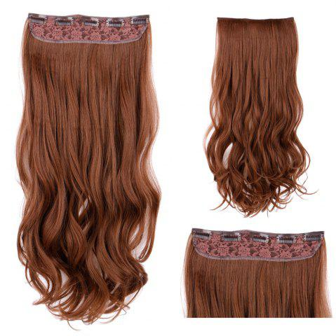 Best Clip In Long Wavy Synthetic Hair Extension LIGHT BROWN