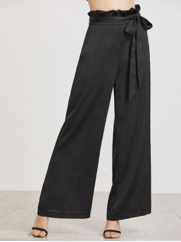 Affordable Work Ruffle High Waist Palazzo Pants