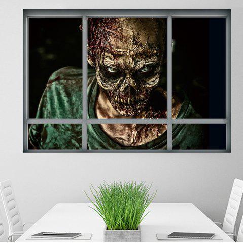 Store Halloween Window Zombie Removable 3D Wall Art Sticker COLORMIX 48.5*68CM