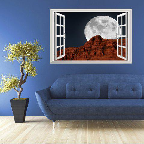 Window Moon Night Removable 3D Wall Art Sticker - Colormix - 48.5*72cm