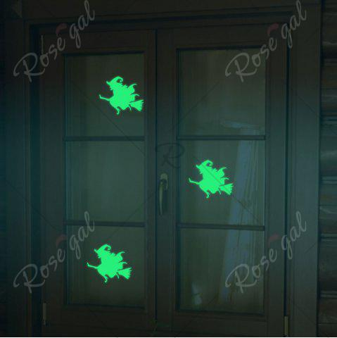 Sale Home Decoration Halloween Witch Luminous DIY Wall Stickers - NEON GREEN  Mobile