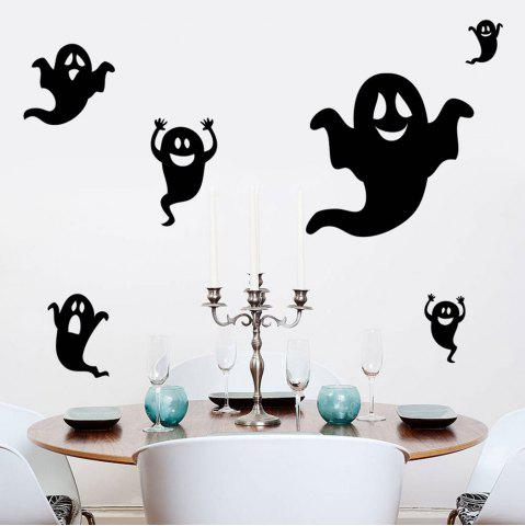 Chic Home Decor DIY Halloween Ghost Shape Wall Stickers - BLACK  Mobile