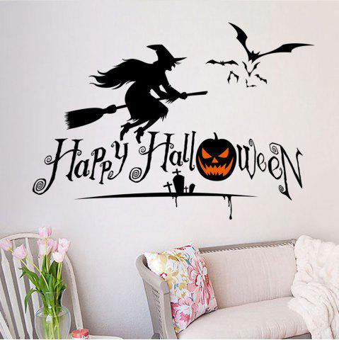 Best DIY Halloween Witch Shape Wall Stickers - BLACK  Mobile