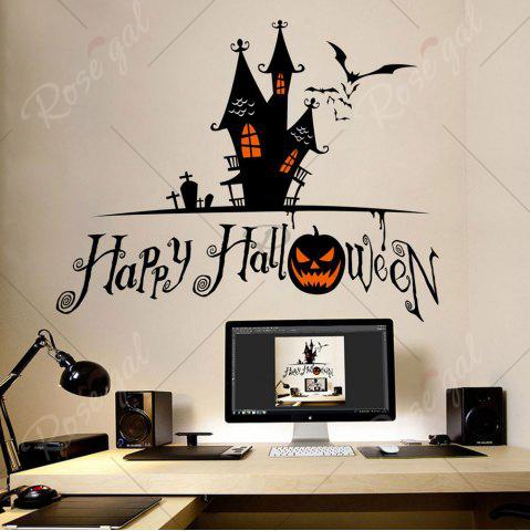 Sale Home Decor DIY Halloween Castle Shape Wall Stickers - BLACK  Mobile