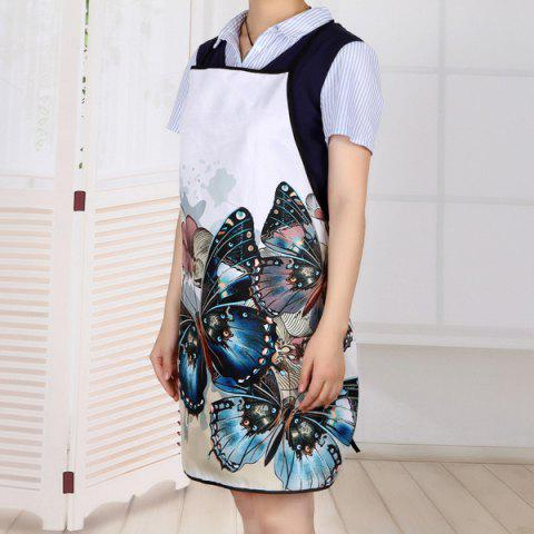 Hot Vintage Butterfly Print Waterproof Kitchen Apron - 80*70CM COLORMIX Mobile