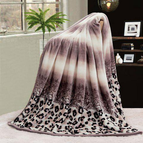 Unique Leopard Print Bed Throw Blanket COLORMIX DOUBLE