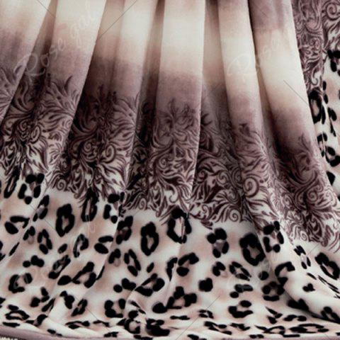 Affordable Leopard Print Bed Throw Blanket - EURO KING COLORMIX Mobile