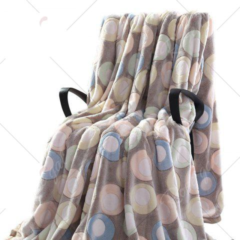 Store Round Print Bedroom Soft Throw Blanket - DOUBLE LIGHT BLUE DOT PATTERN Mobile
