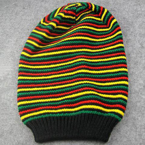 Outfits Pinstriped Iridescence Knitting Folding Beanie - COLORFUL  Mobile