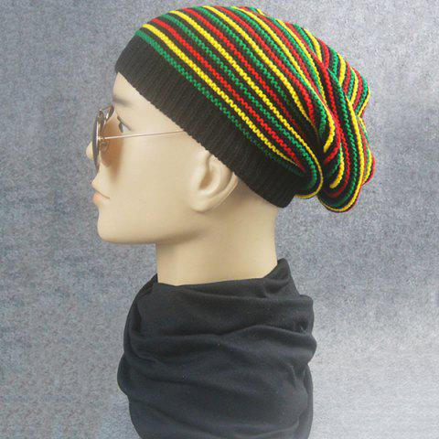 Cheap Pinstriped Iridescence Knitting Folding Beanie - COLORFUL  Mobile