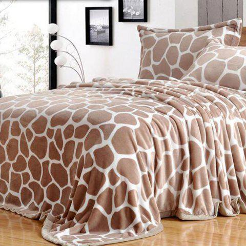 Outfits Giraffe Grain Print Bed Throw Blanket GIRAFFE DOUBLE