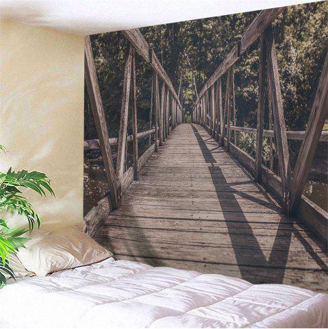 Chic Hanging Woody Bridge Decorative Wall Tapestry DUN W91 INCH * L71 INCH