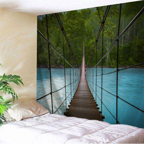 Online Wall Art Suspension Bridge Landscape Tapestry COLORMIX W79 INCH * L71 INCH