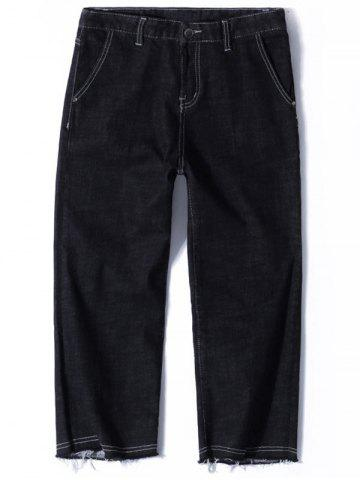 Zip Fly Straight Neuf Minutes of Jeans Noir 32