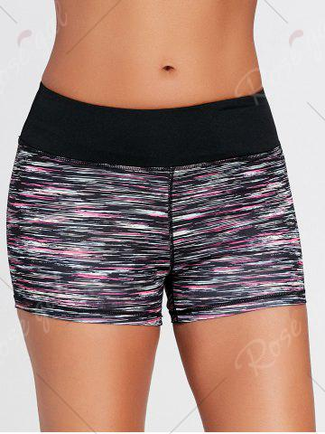 Discount Sports Colorful Marled Mini Tight Shorts - S BLACK Mobile
