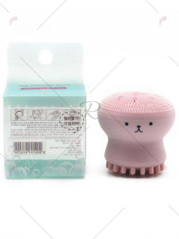 Online Silicone Octopus Double Head Facial Cleansing Brush - PINK  Mobile