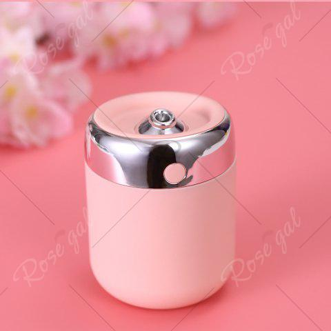 Unique Oblique Hole Air Humidifier With Color Changing LED Light - PINK  Mobile