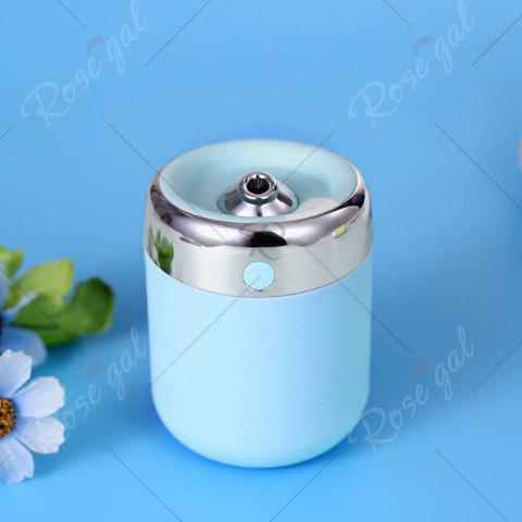 Sale Oblique Hole Air Humidifier With Color Changing LED Light - BLUE  Mobile