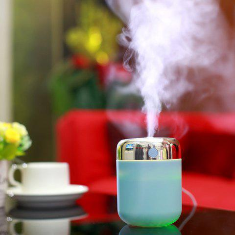 Oblique Hole Air Humidifier With Color Changing LED Light - Blue