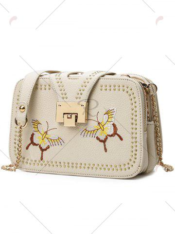 Shop Embroidery Studded Chain Crossbody Bag - PALOMINO  Mobile