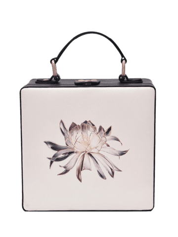 Store Box Shaped Floral Print Crossbody Bag - OFF-WHITE  Mobile