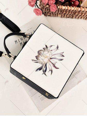 Best Box Shaped Floral Print Crossbody Bag - OFF-WHITE  Mobile