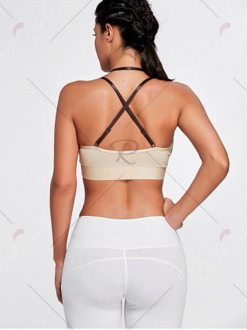 Online Cross Back Plunge Sports Strappy Bra - XL COMPLEXION Mobile