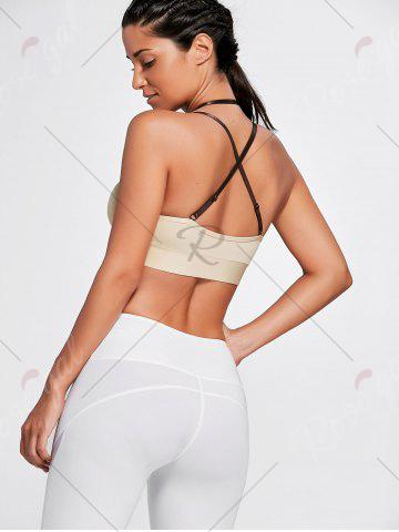 Sale Cross Back Plunge Sports Strappy Bra - XL COMPLEXION Mobile