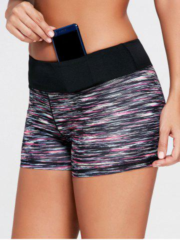 Online Sports Colorful Marled Mini Tight Shorts