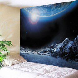 Earth Lake Print Tapestry Wall Hanging Art Decoration