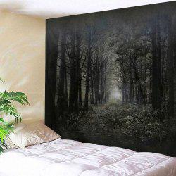 Wall Art Hanging Misty Forest Throw Tapestry