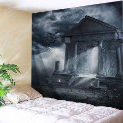 Halloween Decor Horror Building Wall Tapestry