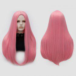 Longue partie moyenne Partie Adduction Straight Cosplay Anime Wig - ROSE PÂLE