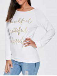 Boat Neck Funny Top - WHITE M