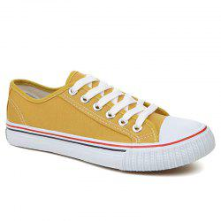 Low-top Canvas Sneakers - YELLOW 40