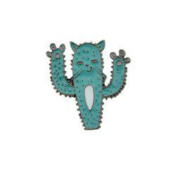 Funny Cactus Cat Tiny Brooch