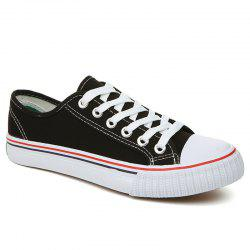 Classic Low-top Canvas Sneakers - BLACK