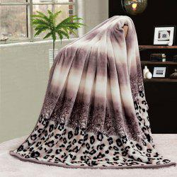 Leopard Print Bed Throw Blanket - COLORMIX DOUBLE