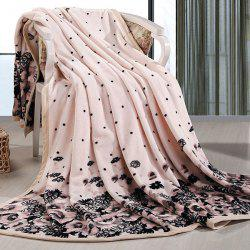 Chrysanthemum Print Bedroom Throw Blanket - CHAMOMILE DOUBLE