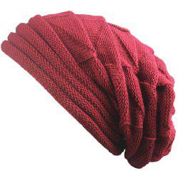 Triangle Knitted Fold Warm Beanie Hat