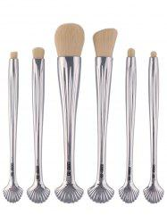 6Pcs Plating Tiny Shell Facial Makeup Brushes Set