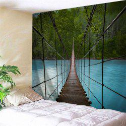 Wall Art Suspension Bridge Landscape Tapestry - COLORMIX W59 INCH * L51 INCH