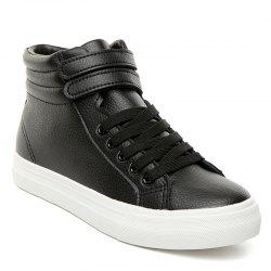 Stitching High Top Athletic Shoes - BLACK 40