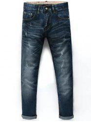 Taper Fit Nine Minutes of Cuffed Jeans