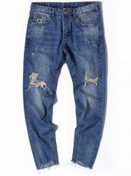 Ripped Zip Fly Nine Minutes of Jeans