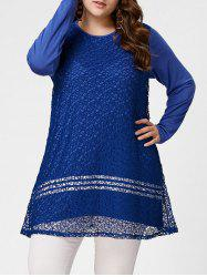 Long Sleeve Plus Size Crochet Tunic Top